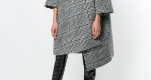 базовое асимметричное пальто