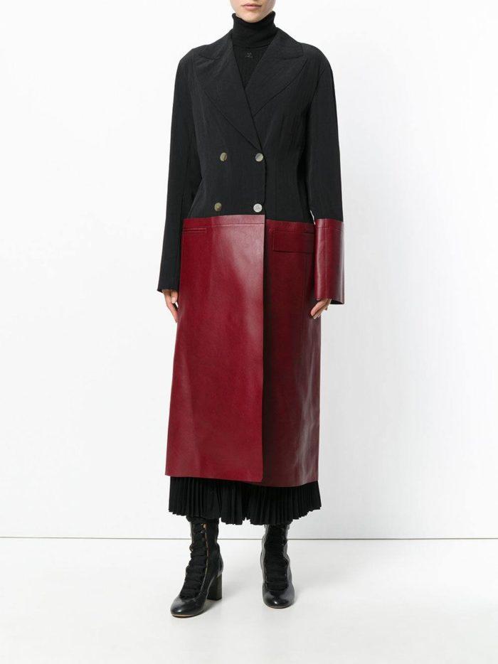 Базовый гардероб: двухцветное пальто