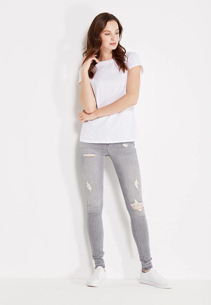 Базовый гардероб 2019-2020: джинсы скинни серые