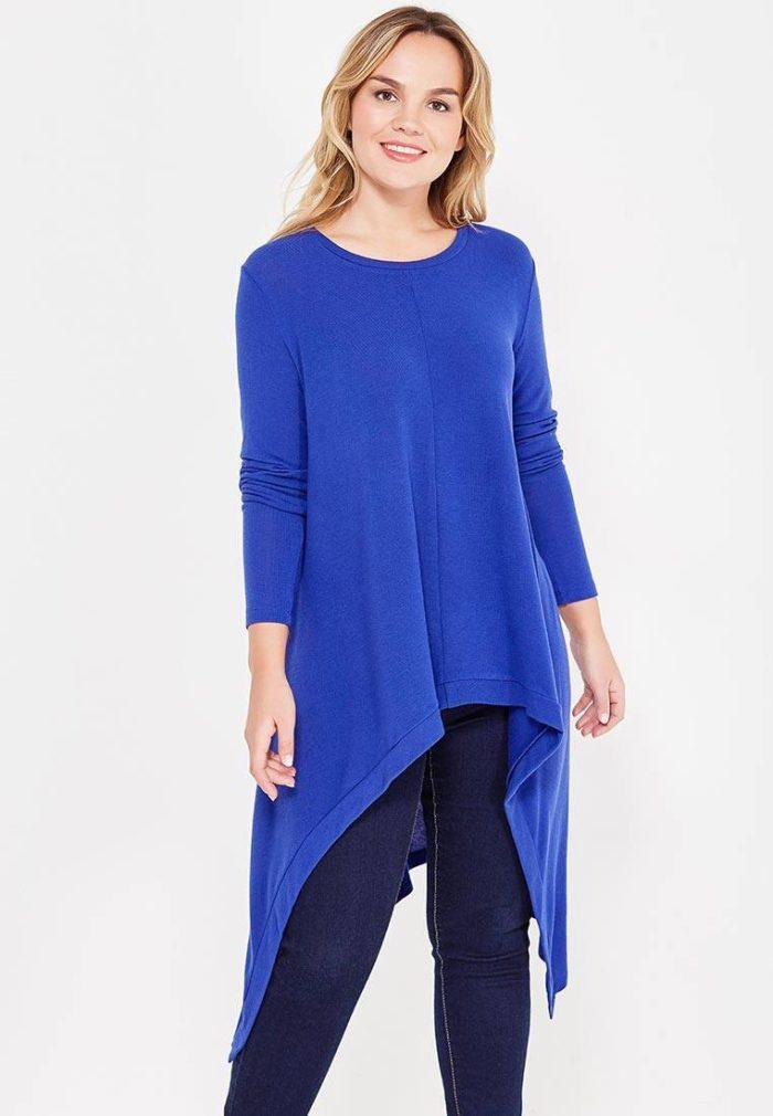 базовая синяя свитер туника