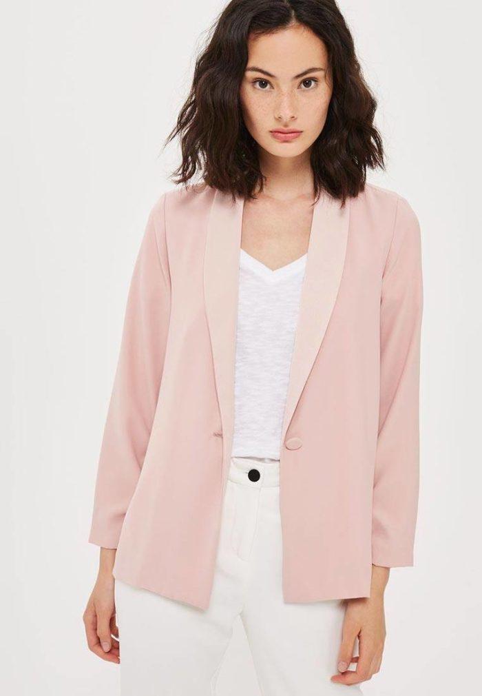 базовый розовый пиджак