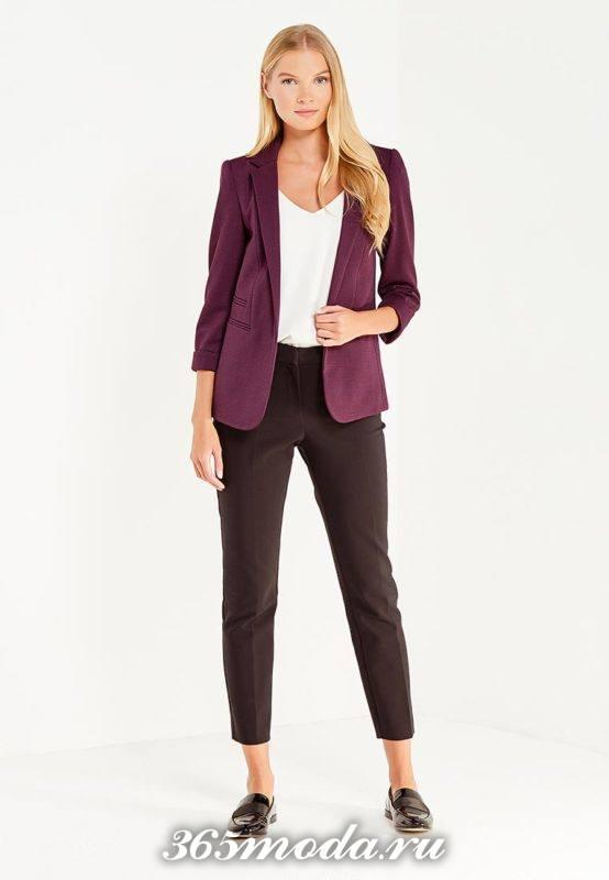 базовый бордовый пиджак