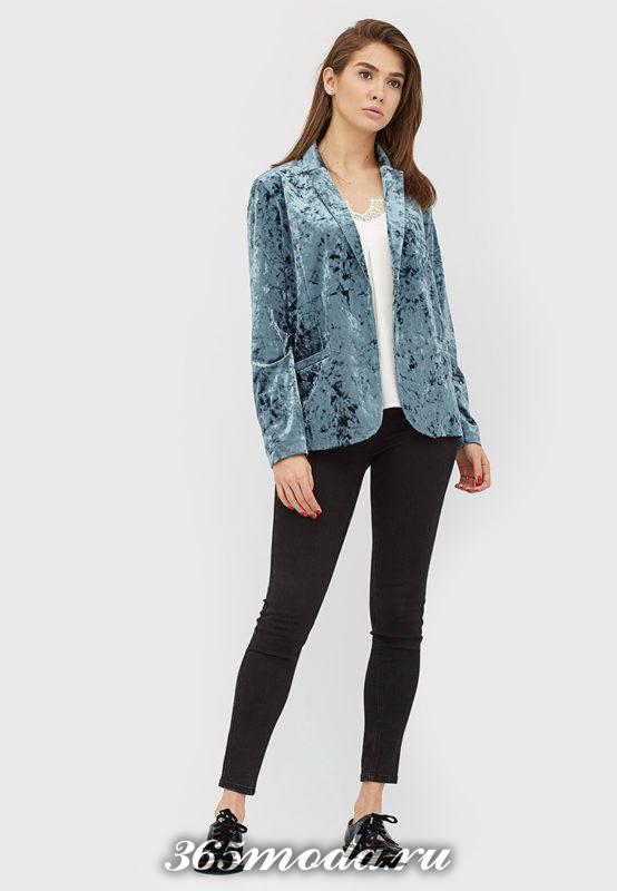 базовый бархатный пиджак