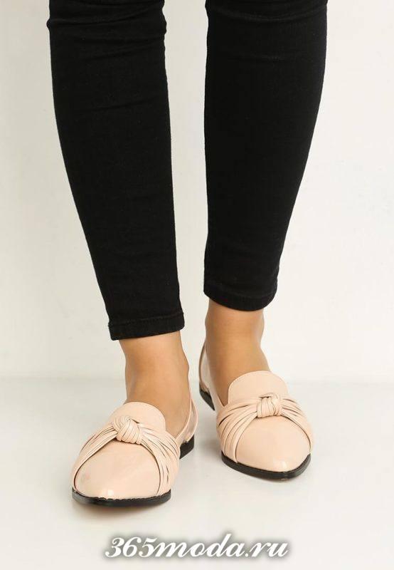 базовые туфли на низком ходу бежевые