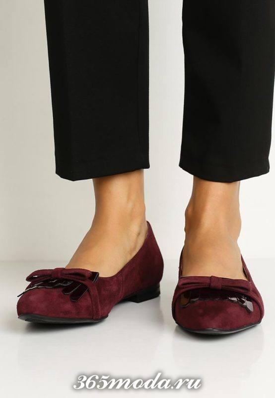 базовые туфли балетки с декором