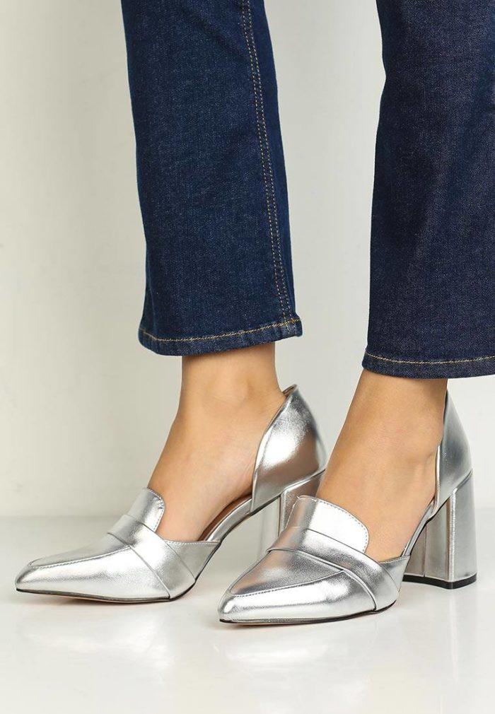 базовые туфли лоферы на толстом каблуке