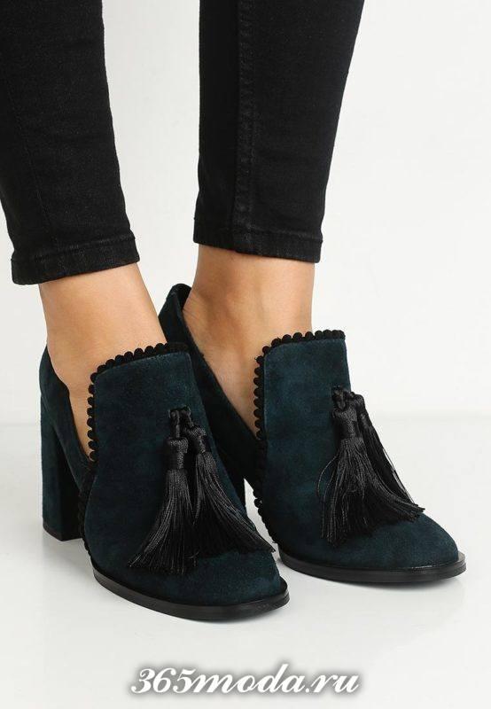 базовые туфли замшевые с декором