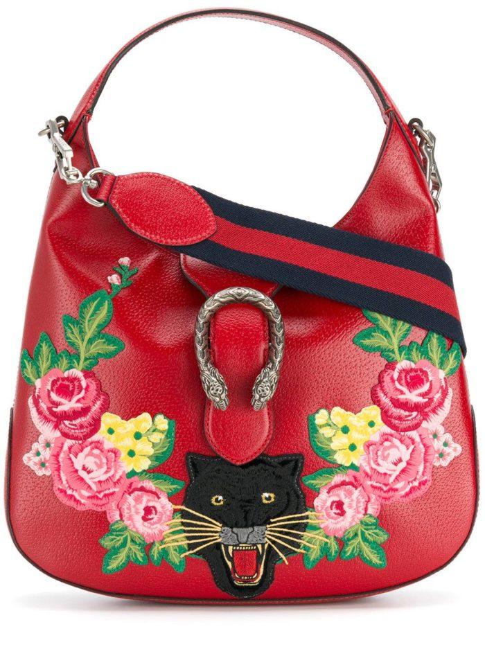 базовая красная сумка с рисунком