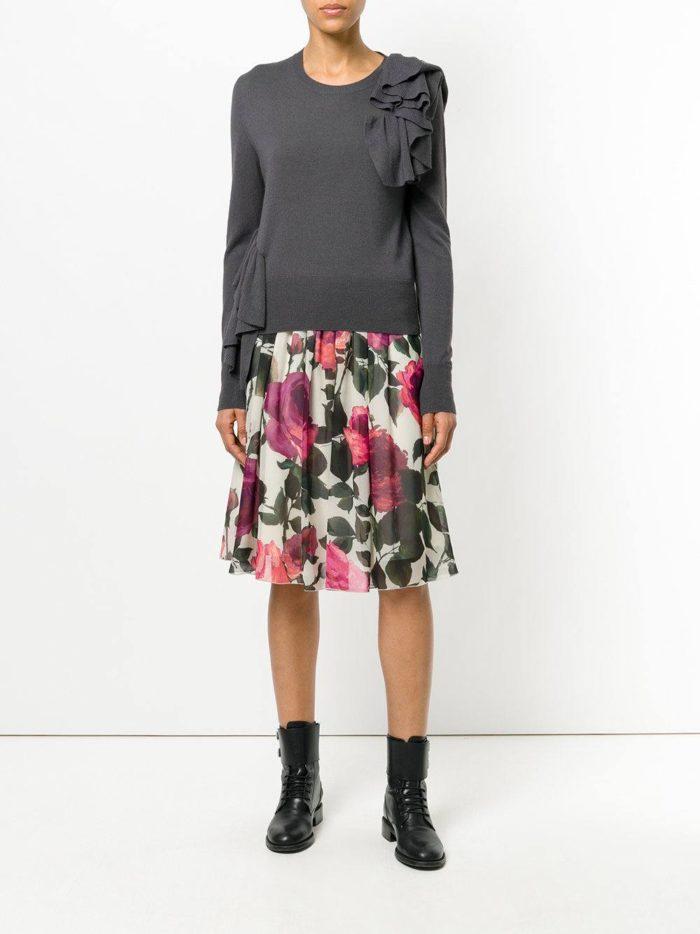 Базовый гардероб 2019-2020: юбка миди с принтом