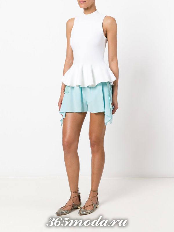 базовые летние короткие шорты с декором