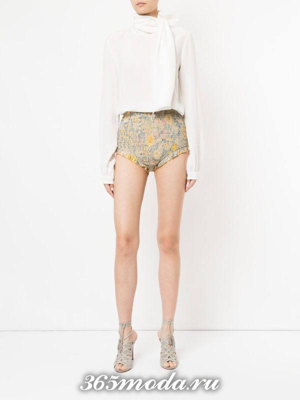 базовые летние короткие шорты с принтом