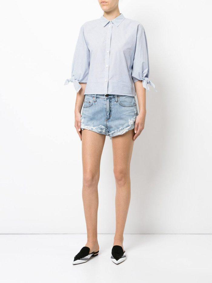 базовые летние джинсовые короткие шорты