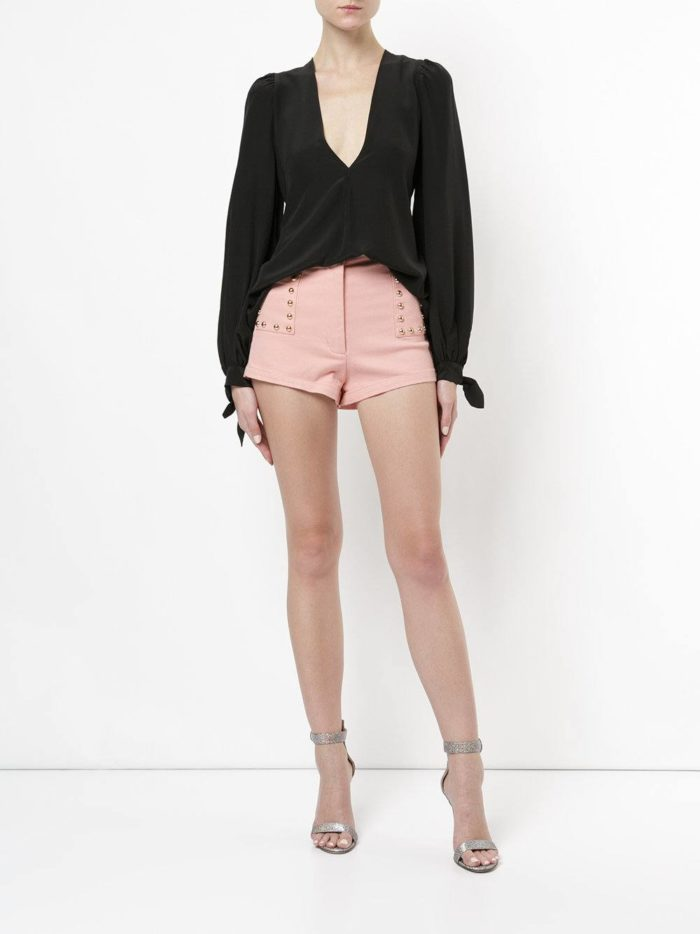 базовые летние розовые короткие шорты