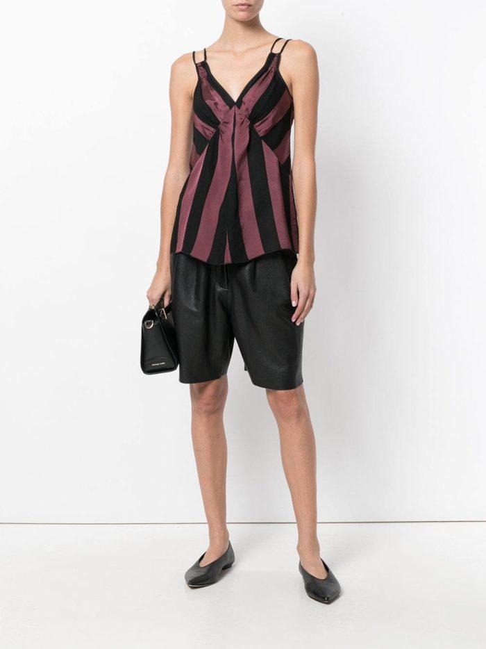 базовые летние черные шорты бермуды