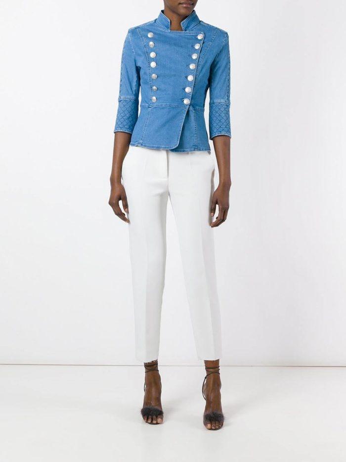 базовый летний джинсовый жакет