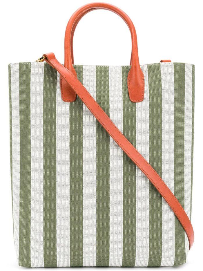 базовая летняя большая сумка в полоску