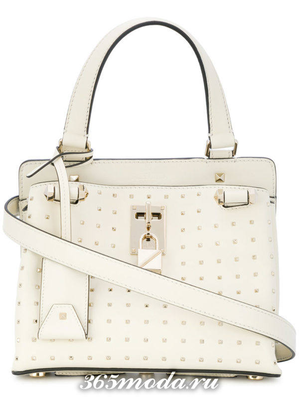 базовая летняя белая сумка через плечо
