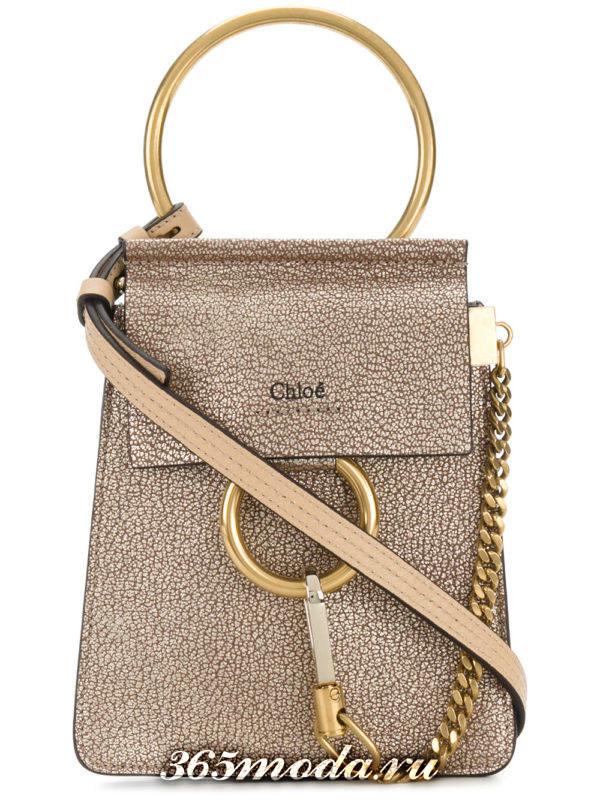 базовая летняя фигурная блестящая сумка