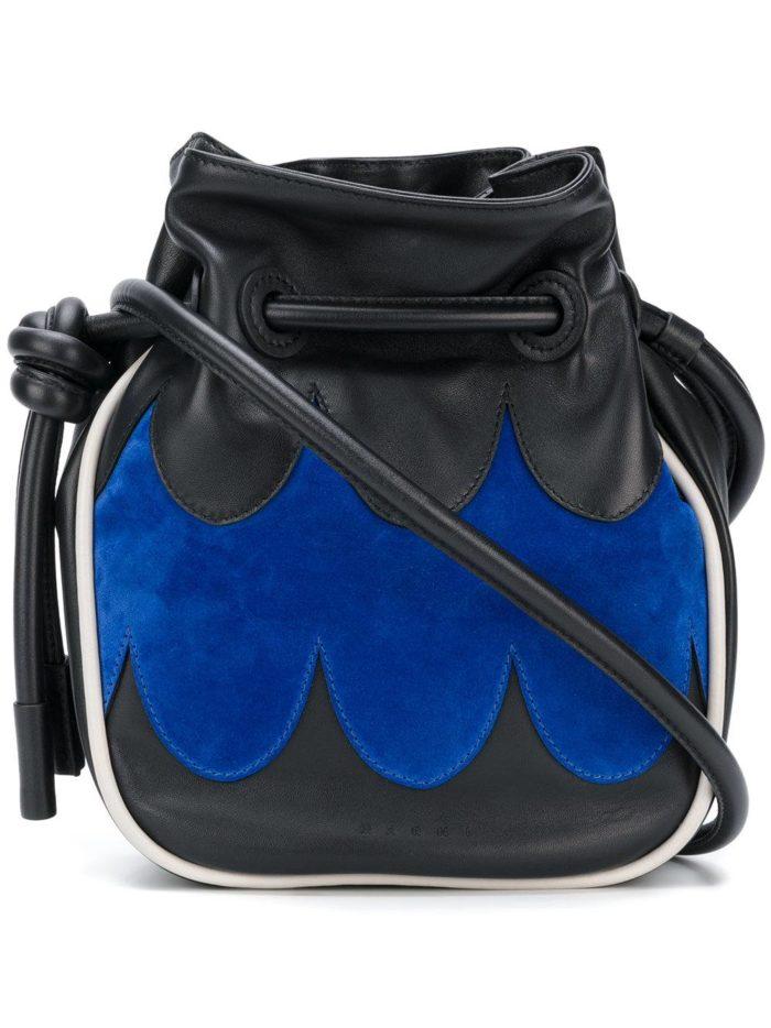 базовая летняя двухцветная сумка через плечо