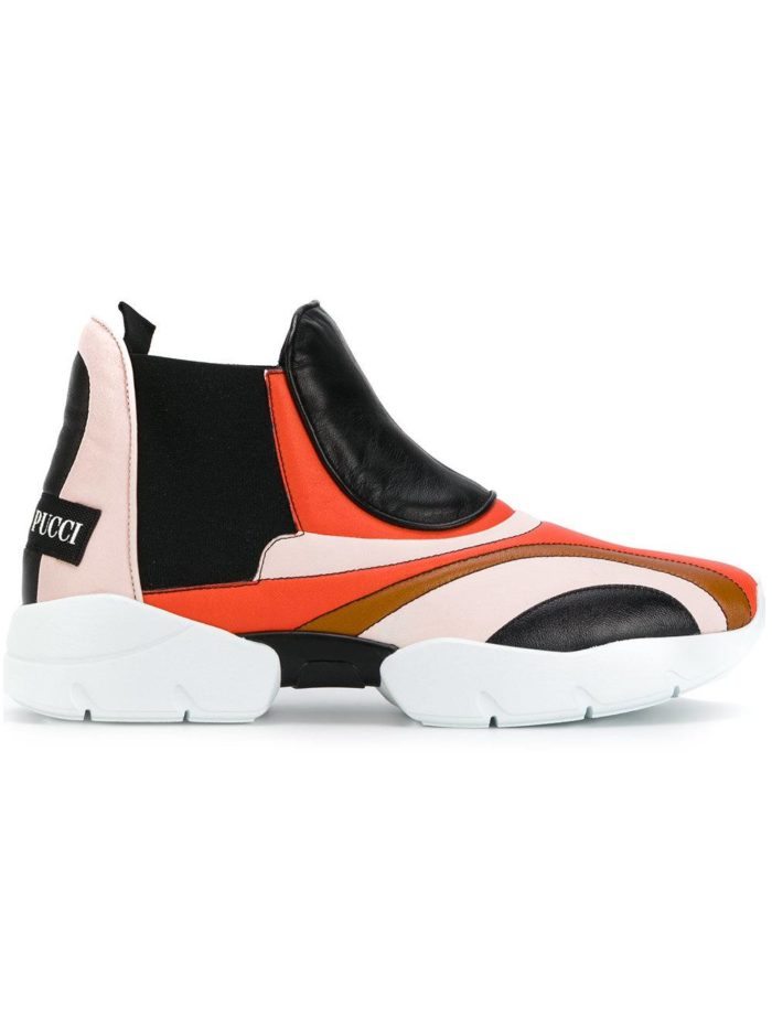высокие кроссовки разноцветные