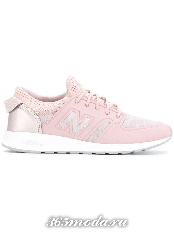 брендовые розовые кроссовки