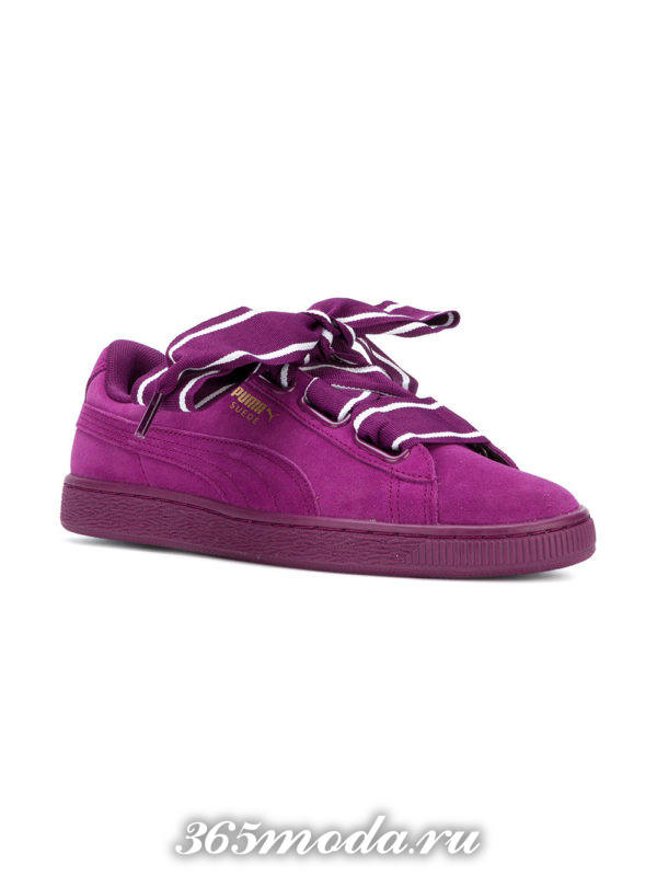 брендовые земшевые кроссовки с декором