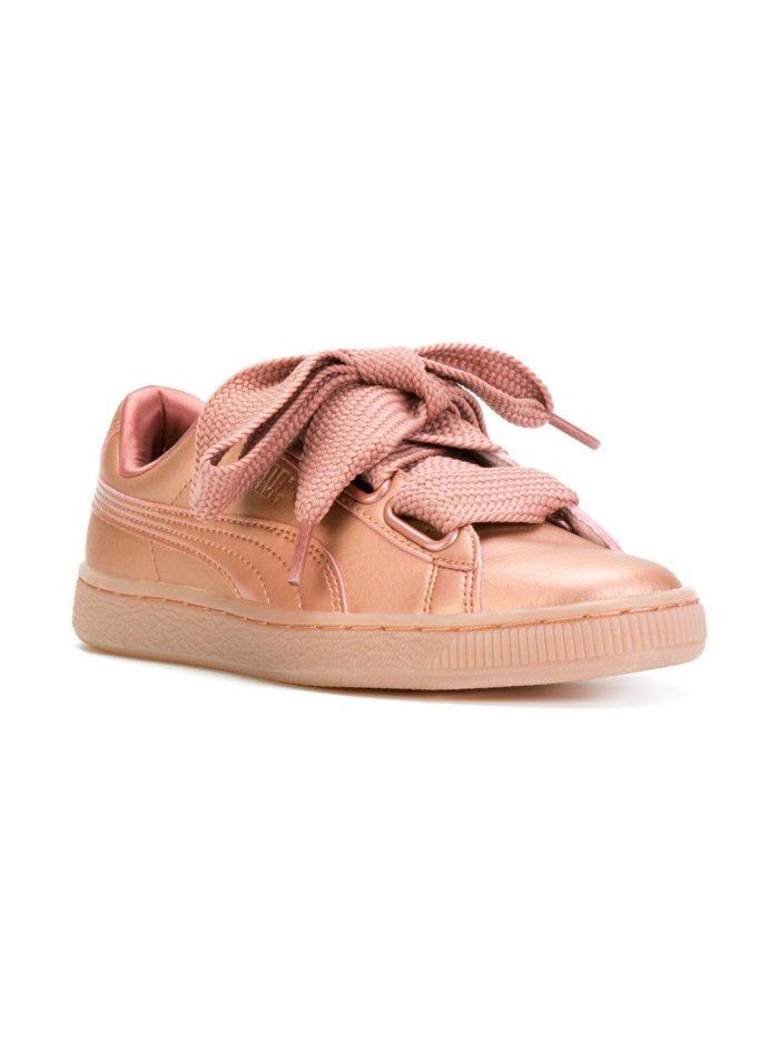 Кроссовки 2019-2020: кеды розовые со шнуровкой