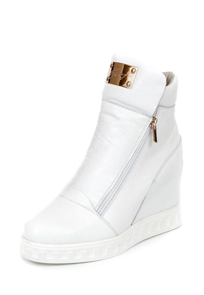 Кроссовки 2019-2020: сникерсы белые кожаные