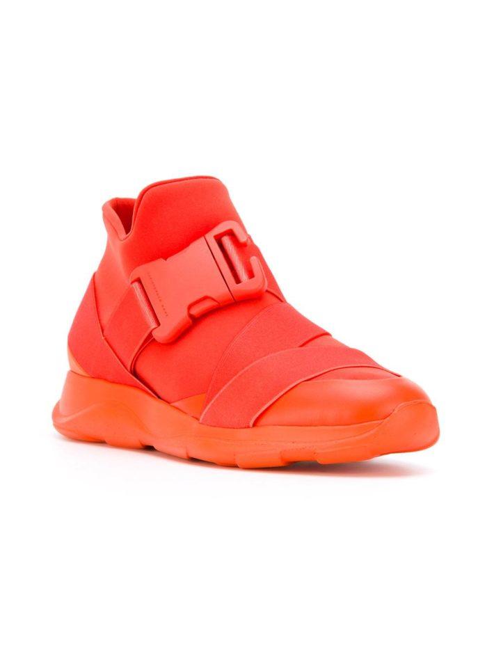 кислотные кроссовки двухцветные