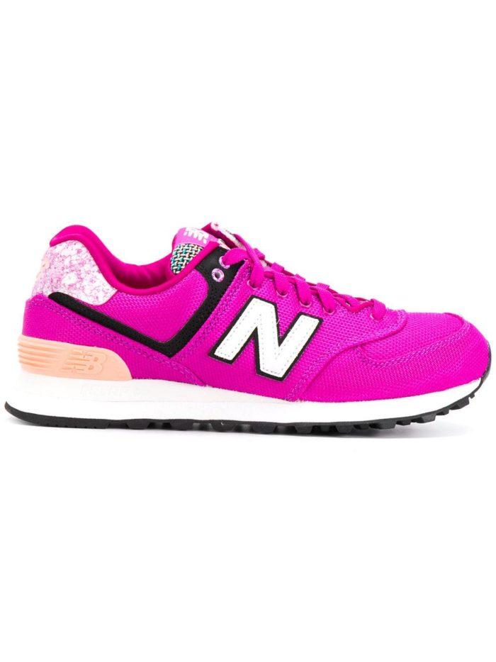 кислотные кроссовки розовые