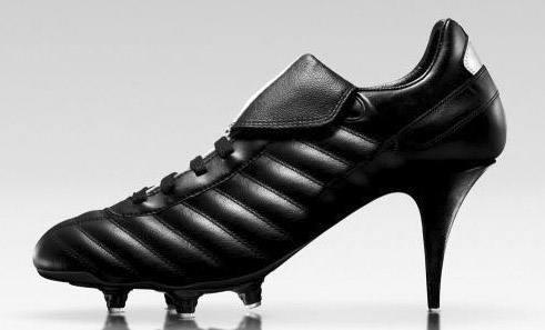 кроссовки на каблуке черные