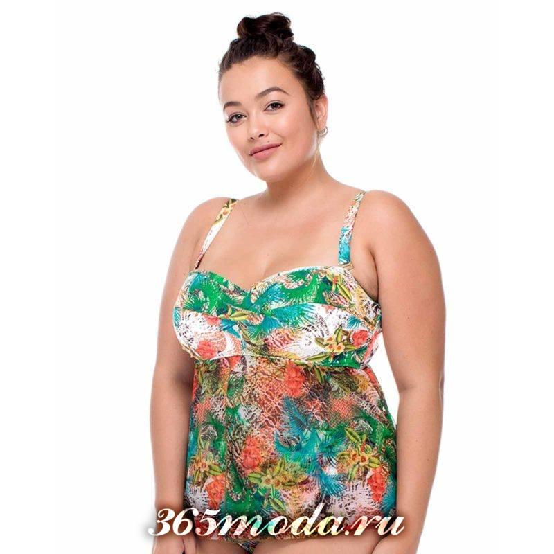 купальник-платье с цветочным принтом
