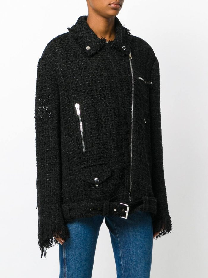 черная куртка косуха из ткани