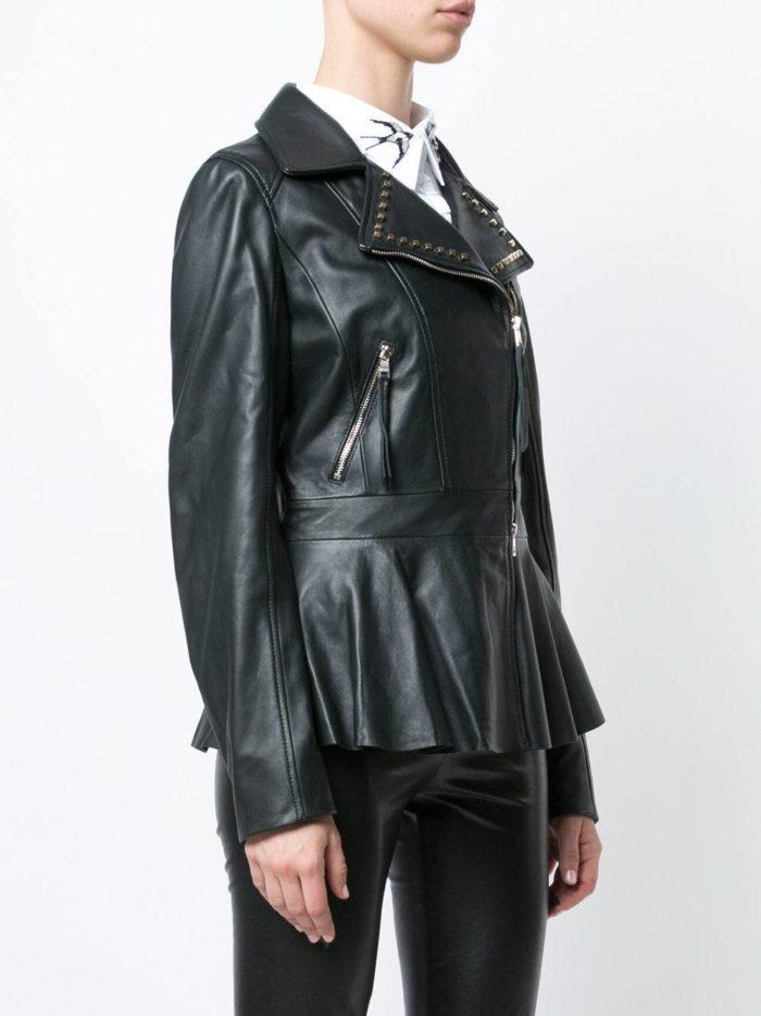 кожаная куртка косуха с баской