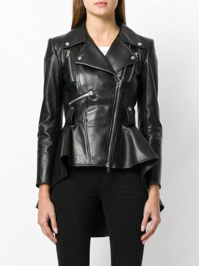 черная куртка косуха с баской