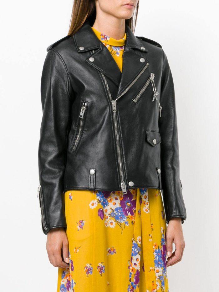 кожаная черная куртка косуха