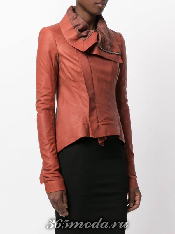 цветная асимметричная куртка косуха