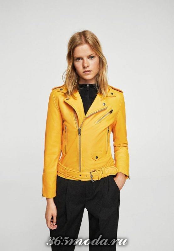желтая куртка косуха