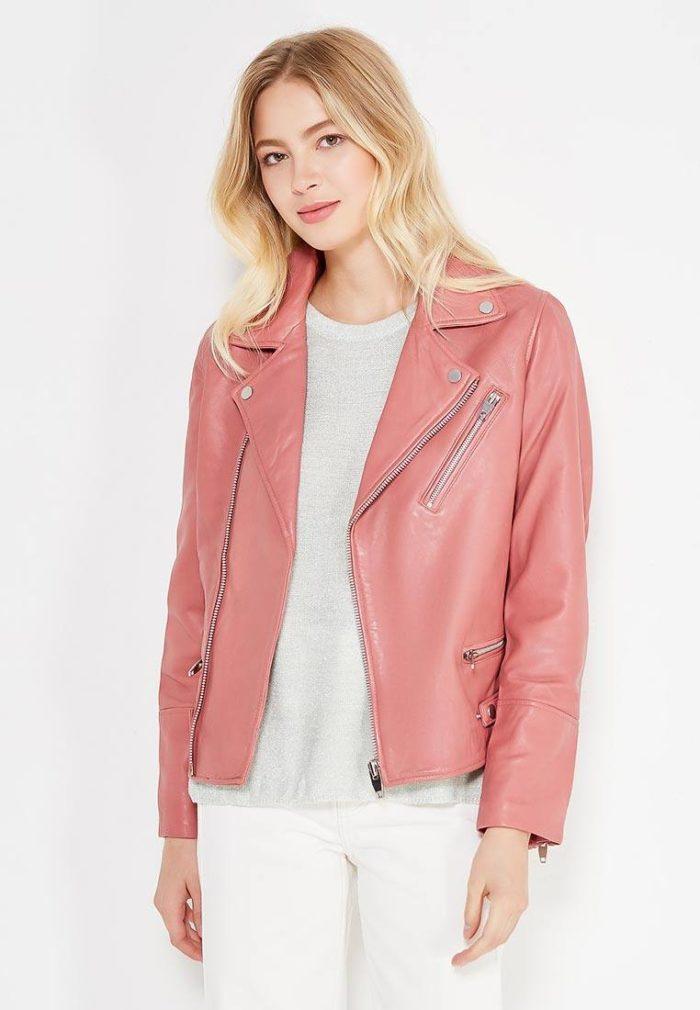 розовая куртка косуха