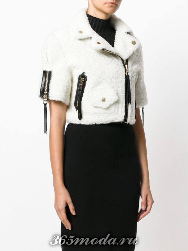короткая меховая куртка косуха