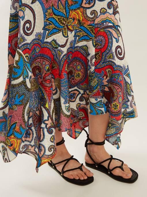 летние темные гладиаторские сандали на низком ходу