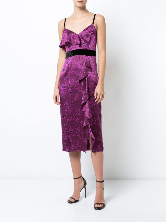 летний фиолетовый сарафан в греческом стиле с поясом