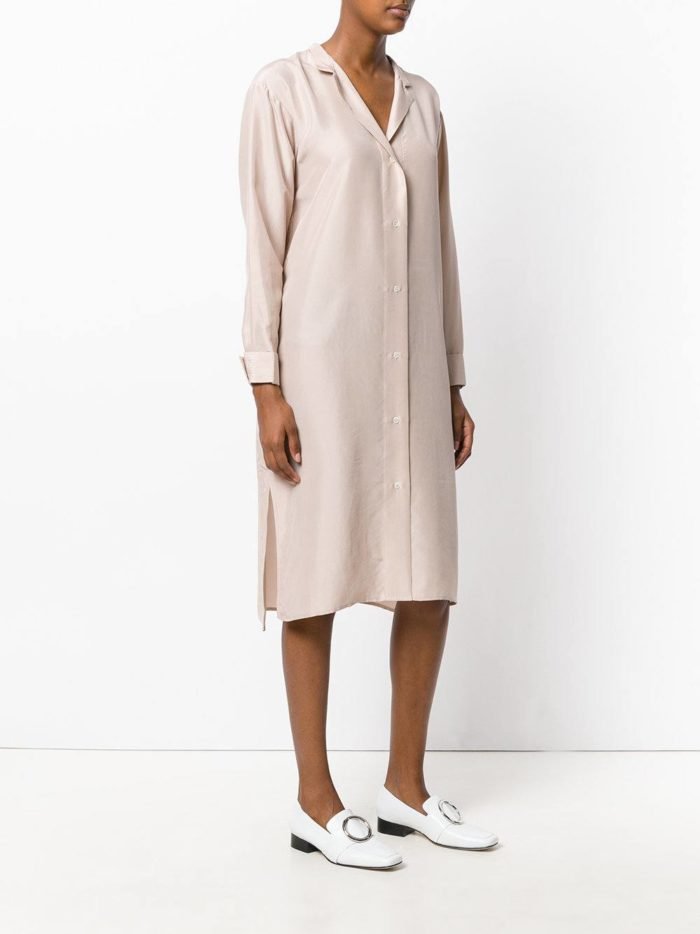летнее платье в пижамном стиле нюдовый