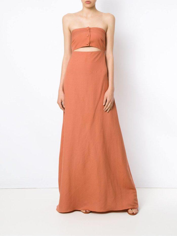 летнее цветное длинное платье