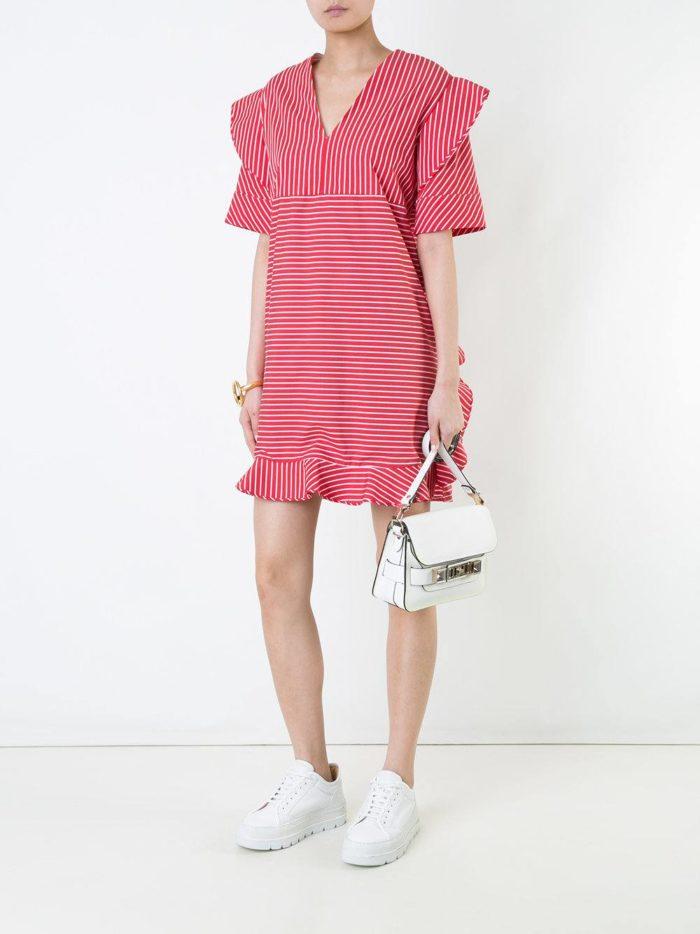 летнее розовое короткое платье
