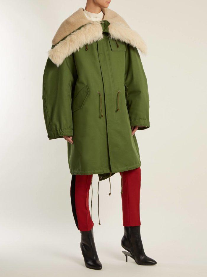 луки осень-зима: с паркой оверсайз и брюками