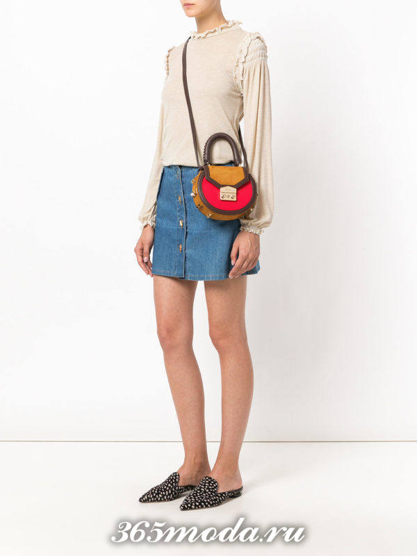 разноцветная круглая сумка
