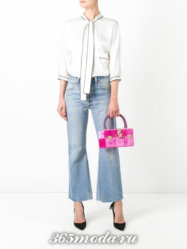 бархатная розовая сумка-коробка