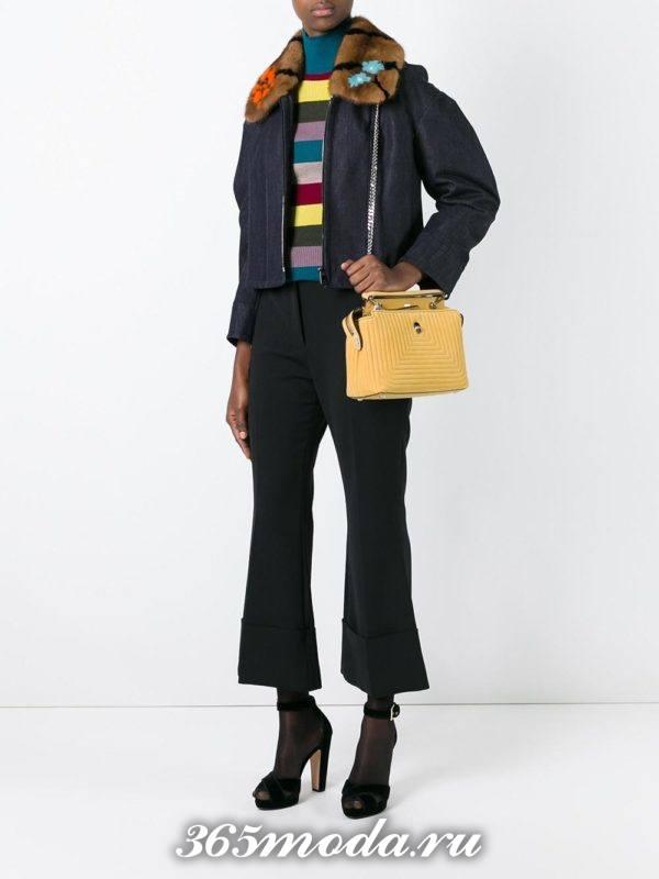 цветная ретро сумка на ремешке