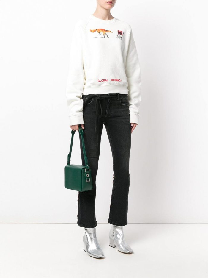 зеленая сумка прямоугольной формы